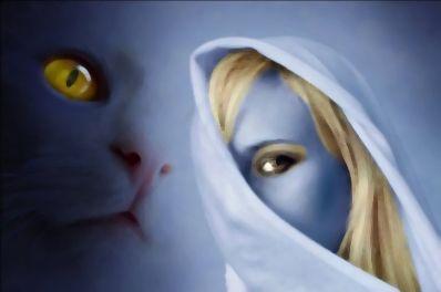 La dama y el gato